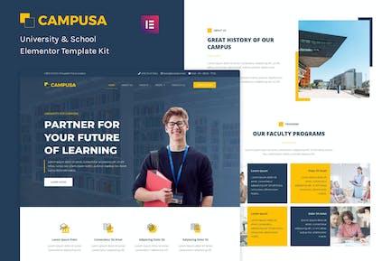 Campusa - University & School Elementor Template Kit