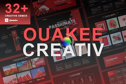 Ouakee - Creative Company & Professional Portfolio  Elementor Template Kit