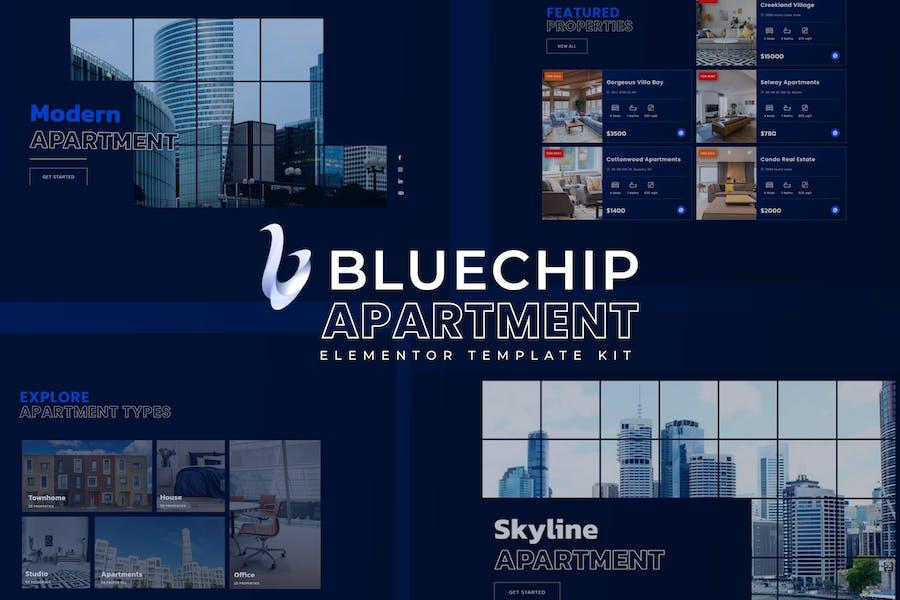 Bluechip - Apartment & Property Elementor Template Kit
