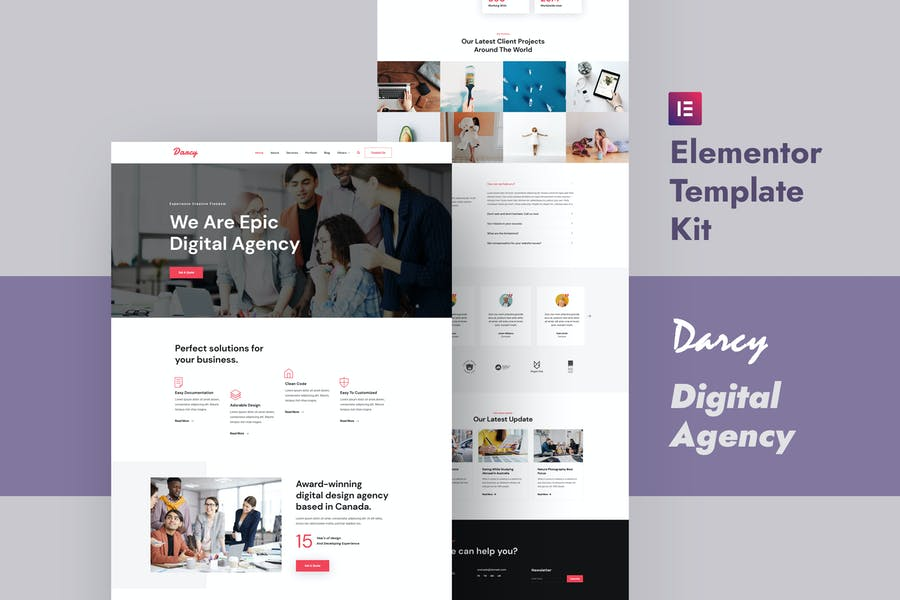 Darcy - Creative Agency Elementor Template Kit