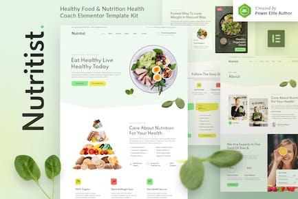 Nutritist – Healthy Food & Nutrition Coach Elementor Template Kit
