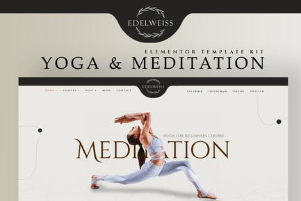 Edelweiss - Yoga & Meditation Elementor Template Kit