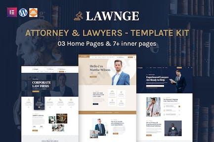 Lawgne - Attorney & Lawyers Elementor Template Kit