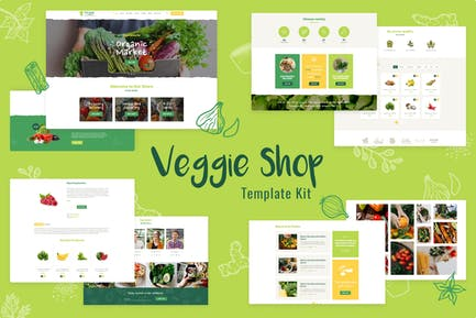 Veggie   Organic Food & Eco Online Store Products Template Kit