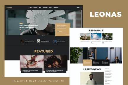 Leonas - Blog & Magazine Elementor Template Kit