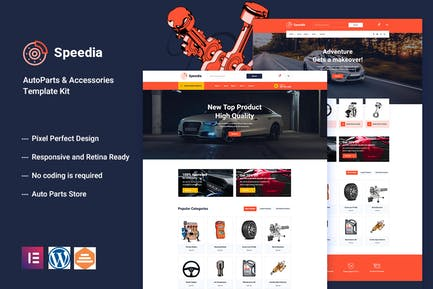 Speedia - AutoParts & Accessories Elementor Template Kit