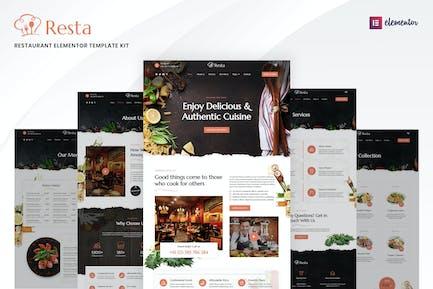 Resta – Restaurant Elementor Template Kit