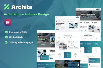 Archita - Architecture & Interior Design Elementor Template Kit
