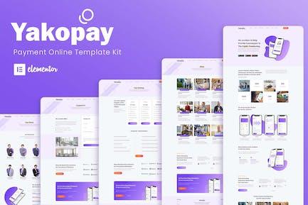 Yakopay - Online Payment App Elementor Template Kit