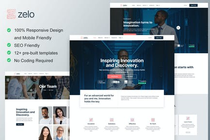 Zelo - Startup Business & Technology Company Elementor Template Kit