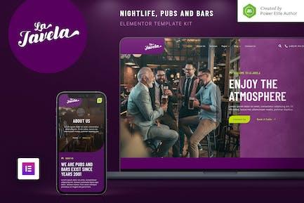 LaJavela – Bar Nightlife & Pub Elementor Template Kit