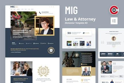 Mig - Juego de Plantilla para abogados y abogados