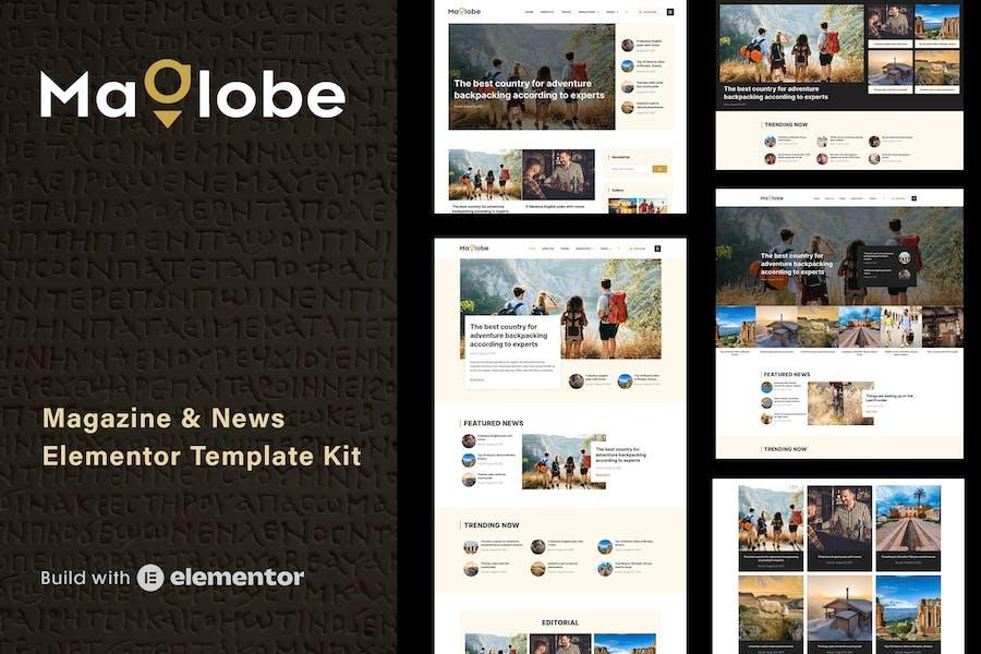 Maglobe - Magazine & News Elementor Template Kit