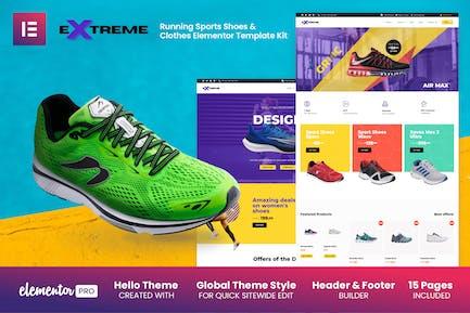 Extreme - Zapatillas deportivas y ropa Elementor Template Kit
