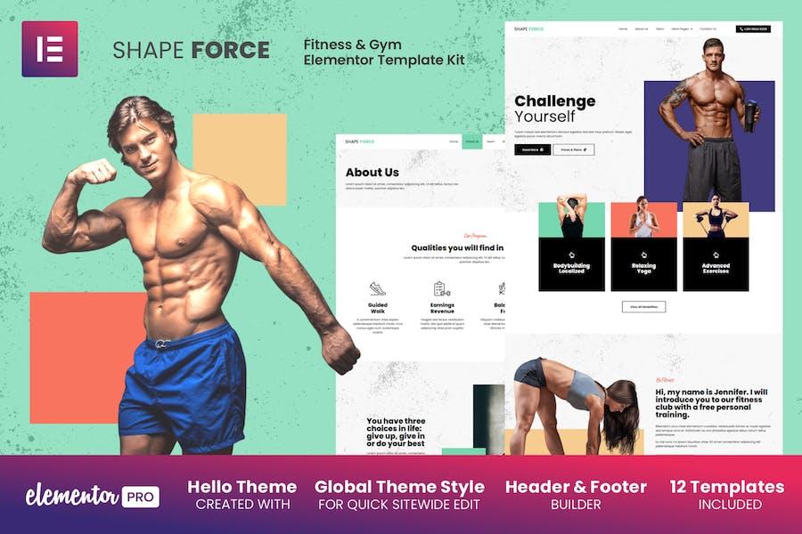 Shape Force - Template Kit elementos de fitness y gimnasio