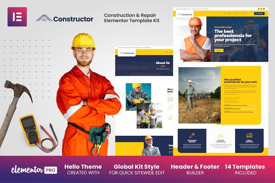 Constructor - Template Kit Elementor de Construcción y Reparación